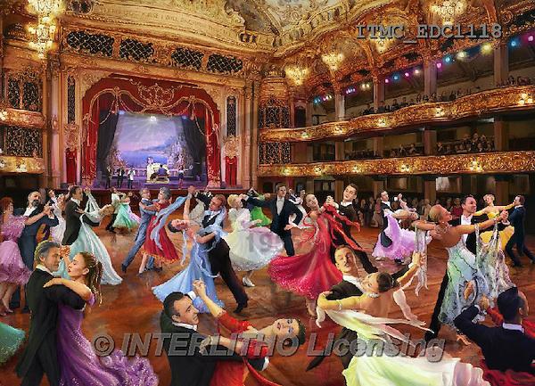 Marcello, LANDSCAPES, LANDSCHAFTEN, PAISAJES,ballroom,waltz,dancing,puzzle, paintings+++++,ITMCEDC1118,#L# ,puzzles