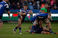Bath Rugby's Max Green in action during todays match<br /> <br /> Photographer Bob Bradford/CameraSport<br /> <br /> Premiership Rugby Cup Round 1 - Bath Rugby v Harlequins - Saturday 27th October 2018 - The Recreation Ground - Bath<br /> <br /> World Copyright © 2018 CameraSport. All rights reserved. 43 Linden Ave. Countesthorpe. Leicester. England. LE8 5PG - Tel: +44 (0) 116 277 4147 - admin@camerasport.com - www.camerasport.com