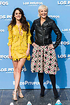 "Macarena Garcia and Eva Hache attends to the presentation of the film ""Ls Pitufos"" in Madrid. March 14, 2017. (ALTERPHOTOS/Borja B.Hojas)"