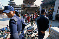 Militarization and Curfew in Durbar square Kathmandu city Nepal..-The full text reportage is available on request in Word format