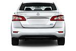 Straight rear view of2014 Nissan Sentra SV 4 Door Sedan Rear View  stock images
