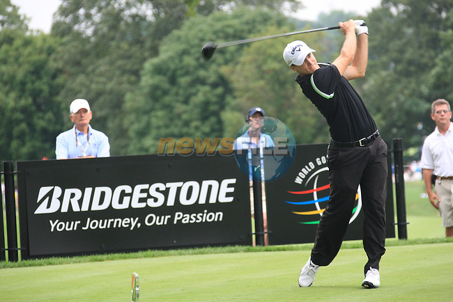 Alexander Noren (SWE)) on the11th Tee on day 1 of the World Golf Championship Bridgestone Invitational, from Firestone Country Club, Akron, Ohio. 4/8/11.Picture Fran Caffrey www.golffile.ie