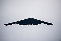 BALTIMORE, MD - MAY 20: A B-2 Spirit Bomber makes a fly by on Preakness Stakes Day at Pimlico Race Course on May 20, 2017 in Baltimore, Maryland.(Photo by Douglas DeFelice/Eclipse Sportswire/Getty Images)
