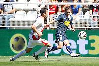02.09.2012 SPAIN -  La Liga 12/13 Matchday 3rd  match played between Rayo Valelcano vs Sevilla Futbol Club (0-0) at Campo de Vallecas stadium. The picture show Fernando Navarro Corbacho (Spanish Defender of Sevilla F.C.)