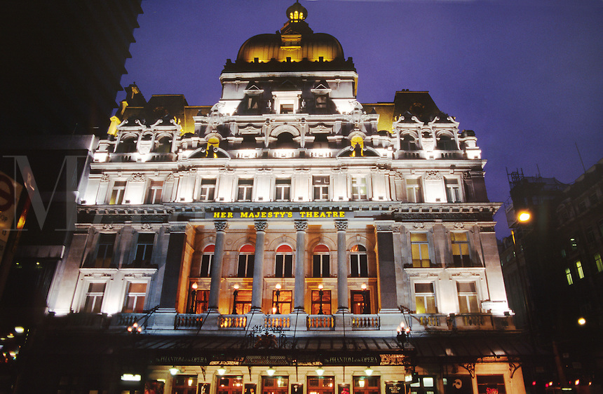 HER MAJESTY'S THEATRE in TRAFALGAR SQUARE - LONDON, ENGLAND.