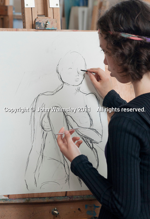 Life Drawing Class, Adult Learning Centre, Guildford, Surrey.