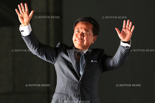 Naoki Inose, <br /> September 10, 2013  : <br /> Debrief session about Tokyo won the bid to host the 2020 Summer Olympic Games in Shinjuku, Tokyo, Japan. <br /> (Photo by Daiju Kitamura/AFLO SPORT)