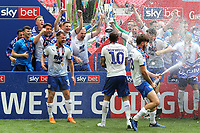 Tranmere Rovers celebrate winning the Division Two Play-Off Final during Newport County vs Tranmere Rovers, Sky Bet EFL League 2 Play-Off Final Football at Wembley Stadium on 25th May 2019
