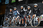 Elizabeth Deignan (GBR) and Trek-Segafredo Women at sign on before the start of Stage 1 of the 2019 ASDA Tour de Yorkshire Women's Race, running 132km from Barnsley to Bedale, Yorkshire, England.  3rd May 2019.<br /> Picture: ASO/SWPix | Cyclefile<br /> <br /> All photos usage must carry mandatory copyright credit (© Cyclefile | ASO/SWPix)