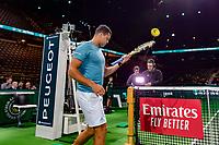 Rotterdam, The Netherlands, 13 Februari 2019, ABNAMRO World Tennis Tournament, Ahoy,  Jo-Wilfried Tsonga (FRA)   Thomas Fabbiano (ITA)<br /> Photo: www.tennisimages.com/Henk Koster