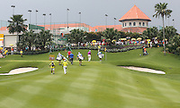 Final match reaching the 9th during the Final Round of the 2014 Maybank Malaysian Open at the Kuala Lumpur Golf & Country Club, Kuala Lumpur, Malaysia. Picture:  David Lloyd / www.golffile.ie