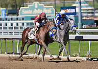 March 3, 2012. Stirred Up by Lemon Drop Kid breaks his maiden at Santa Anita Park in Arcadia, CA.