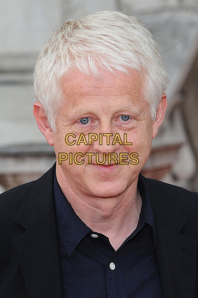 Richard Curtis<br /> attends the World Premiere of 'About Time', Somerset House, London, UK, 8th August 2013.<br /> portrait headshot blue navy shirt suit <br /> CAP/BEL<br /> &copy;Tom Belcher/Capital Pictures