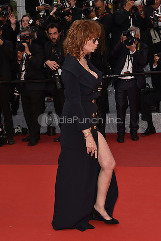 CANNES, FRANCE - MAY 12: Susan Sarandon at &acute;Money Monster` screening - 69th Cannes Film Festival, France May 12, 2016.<br />