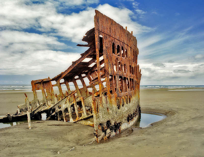 Wreck of the Peter Iredale. Oregon
