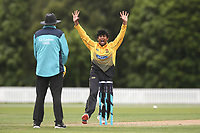 Wellington's Rachin Ravendra appeals during the Wellington Firebirds v Otago Volts, Ford Trophy One Day match round five at Bert Sutcliffe Oval in Lincoln, New Zealand on Friday, 29 November 2019. Photo: Martin Hunter / lintottphoto.co.nz