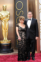 HOLLYWOOD, CA - MARCH 2: Nia Vardalos, Stephen Prouty arriving to the 2014 Oscars at the Hollywood and Highland Center in Hollywood, California. March 2, 2014. Credit: SP1/Starlitepics. /NORTePHOTO
