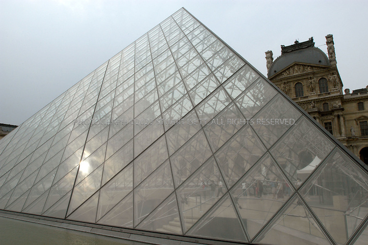 8/6/2004--Paris, France..The Pyramid at the Louvre Museum in Paris..Photograph by Stuart Isett