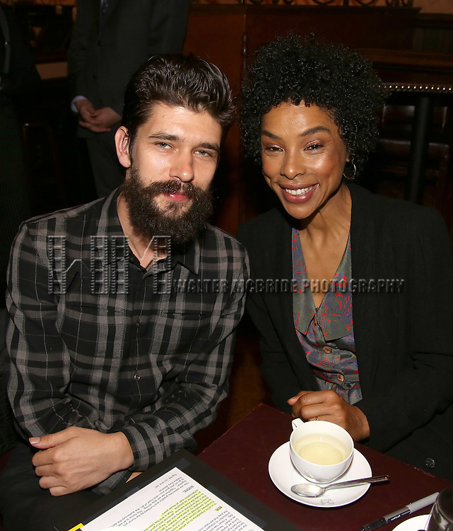 Ben Whishaw and Sophie Okonedo during the 2016 New York Drama Critics' Circle Awards at 54 Below on May 17, 2016 in New York City.