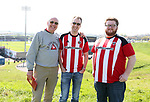 Sheffield United's fans enjoy the day during the League One match at the Sixfields Stadium, Northampton. Picture date: April 8th, 2017. Pic David Klein/Sportimage