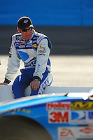 Apr 10, 2008; Avondale, AZ, USA; NASCAR Sprint Cup Series driver Clint Bowyer during qualifying for the Subway Fresh Fit 500 at Phoenix International Raceway. Mandatory Credit: Mark J. Rebilas-