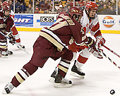 Benn Ferriero, Kevin Schaeffer - The Boston University Terriers defeated the Boston College Eagles 2-1 in overtime in the March 18, 2006 Hockey East Final at the TD Banknorth Garden in Boston, MA.