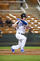 Glendale Desert Dogs Cody Bellinger (21), of the Los Angeles Dodgers organization, during a game against the Salt River Rafters on October 19, 2016 at Camelback Ranch in Glendale, Arizona.  Salt River defeated Glendale 4-2.  (Mike Janes/Four Seam Images)