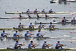 Rowing, United States Men's Lightweight Four, Anthony Fahden, Nick Lacava, Ryan Fox, William Daly, stroke, US national rowing team, heat, Monday 1 November, 2010 FISA World Rowing Championships, Lake Karapiro, Karapiro, Hamilton, New Zealand,