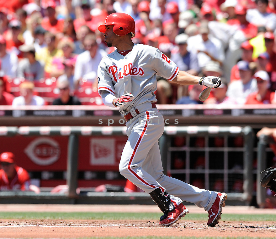 WILSON VALDEZ,  of the Philadelphia Phillies,  in action during the Phillies   game against the Cincinnati Reds in Cincinnati, Ohio on June 30, 2010. The Cincinnati Reds beat the Philadelphia Phillies 4-3..
