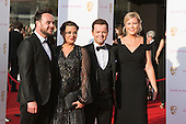 London, UK. 8 May 2016. Ant & Dec with their wives. Anthony McPartlin and Declan Donnelly. Red carpet  celebrity arrivals for the House Of Fraser British Academy Television Awards at the Royal Festival Hall.