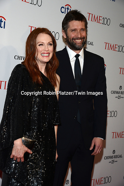 Julianne Moore and Bart Freundlich attends the TIME 100 Issue celebrating the 100 Most Influential People in the World on April 21, 2015 <br /> at Frederick P Rose Hall at Lincoln Center in New York City, New York, USA.<br /> <br /> photo by Robin Platzer/Twin Images<br />  <br /> phone number 212-935-0770