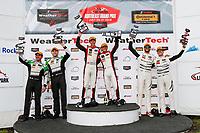 GTD Podium, #48 Paul Miller Racing Lamborghini Huracan GT3, GTD: Madison Snow, Bryan Sellers, #44 Magnus Racing Audi R8 LMS GT3, GTD: John Potter, Andy Lally, #63 Scuderia Corsa Ferrari 488 GT3, GTD: Cooper MacNeil, Jeff Segal