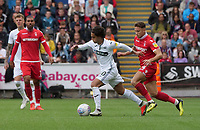 Swansea City's Yan Dhanda during the game<br /> <br /> Photographer Ian Cook/CameraSport<br /> <br /> The EFL Sky Bet Championship - Swansea City v Nottingham Forest - Saturday 15th September 2018 - Liberty Stadium - Swansea<br /> <br /> World Copyright &copy; 2018 CameraSport. All rights reserved. 43 Linden Ave. Countesthorpe. Leicester. England. LE8 5PG - Tel: +44 (0) 116 277 4147 - admin@camerasport.com - www.camerasport.com