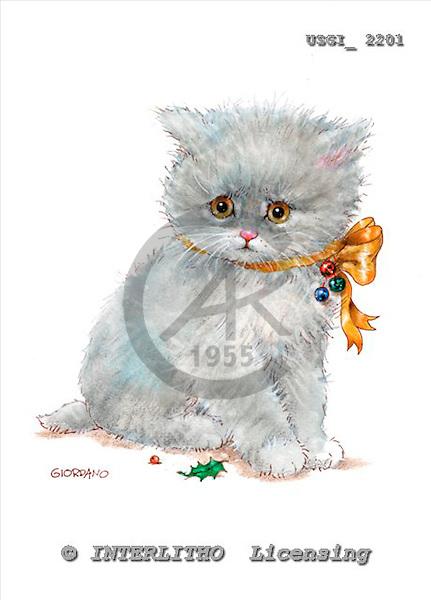 GIORDANO, CHRISTMAS ANIMALS, WEIHNACHTEN TIERE, NAVIDAD ANIMALES, paintings+++++,USGI2201,#XA#