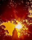 July 8, 2020; Dome at sunrise (Photo by Matt Cashore/University of Notre Dame)