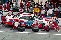DAYTONA BEACH, FL - JUL 2, 1994:  Loy Allen makes a pit stop in the #19 Ford Thunderbird during the Pepsi 400 NASCAR Winston Cup race at Daytona International Speedway, Daytona Beach, FL. (Photo by Brian Cleary/www.bcpix.com)