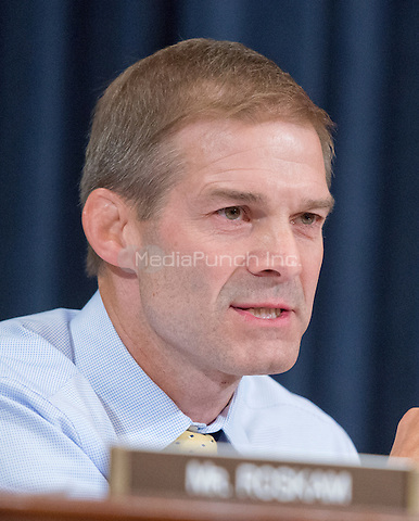 United States Representative Jim Jordan (Republican of Ohio) questions former United States Secretary of State Hillary Rodham Clinton, a candidate for the 2016 Democratic Party nomination for President of the United States, as she testfies before the US House Select Committee on Benghazi on Capitol Hill in Washington, DC on Thursday, October 22, 2015.<br /> Credit: Ron Sachs / CNP/MediaPunch<br /> (RESTRICTION: NO New York or New Jersey Newspapers or newspapers within a 75 mile radius of New York City)
