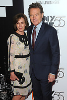NEW YORK, NY - SEPTEMBER 28: Bryan Cranston and  Robin Dearden attends 55th New York Film Festival opening night premiere of 'Last Flag Flying' at Alice Tully Hall, Lincoln Center on September 28, 2017 in New York City. Photo Credit: John Palmer/MediaPunch