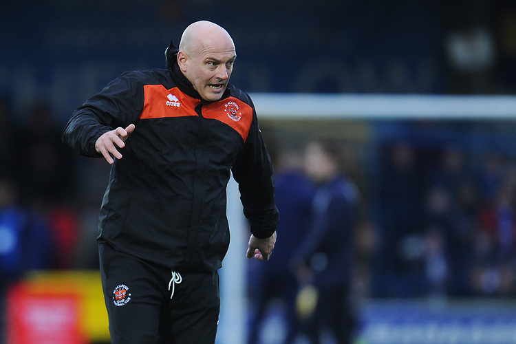 Blackpool Assistant Manager Gary Brabin during the pre-match warm-up <br /> <br /> Photographer Kevin Barnes/CameraSport<br /> <br /> The EFL Sky Bet League One - AFC Wimbledon v Blackpool - Saturday 29th December 2018 - Kingsmeadow Stadium - London<br /> <br /> World Copyright © 2018 CameraSport. All rights reserved. 43 Linden Ave. Countesthorpe. Leicester. England. LE8 5PG - Tel: +44 (0) 116 277 4147 - admin@camerasport.com - www.camerasport.com