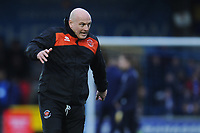 Blackpool Assistant Manager Gary Brabin during the pre-match warm-up <br /> <br /> Photographer Kevin Barnes/CameraSport<br /> <br /> The EFL Sky Bet League One - AFC Wimbledon v Blackpool - Saturday 29th December 2018 - Kingsmeadow Stadium - London<br /> <br /> World Copyright &copy; 2018 CameraSport. All rights reserved. 43 Linden Ave. Countesthorpe. Leicester. England. LE8 5PG - Tel: +44 (0) 116 277 4147 - admin@camerasport.com - www.camerasport.com