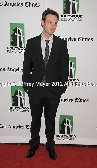 BEVERLY HILLS, CA - OCTOBER 22: Scoot McNairy arrives at the 16th Annual Hollywood Film Awards Gala presented by The Los Angeles Times held at The Beverly Hilton Hotel on October 22, 2012 in Beverly Hills, California.