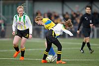 Kent FA U15 Girls Youth Cup Final. Kings Hill FC (Yellow & Blue) V Langton Green FC (White, Green & Black)