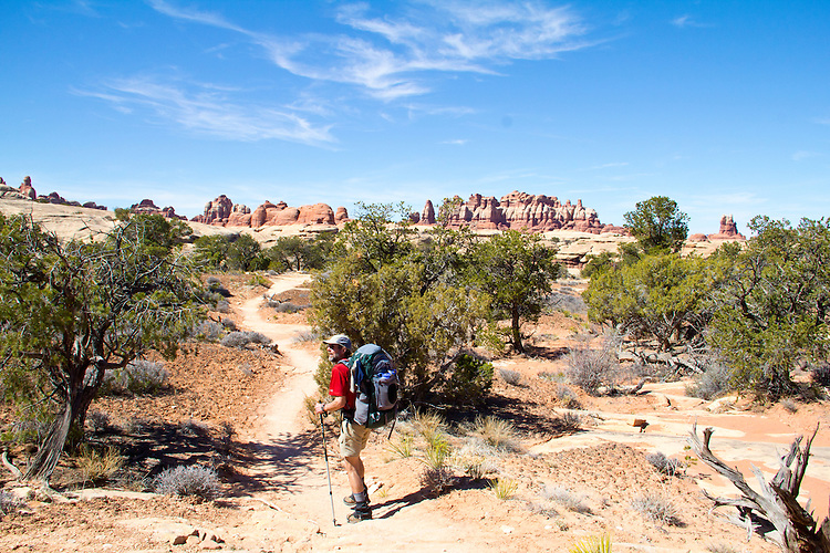 Canyonlands National Park, Utah, Backpacking, Chesler Park Trail, the Needles District, Gary Parker, Southwest, United States, USA,