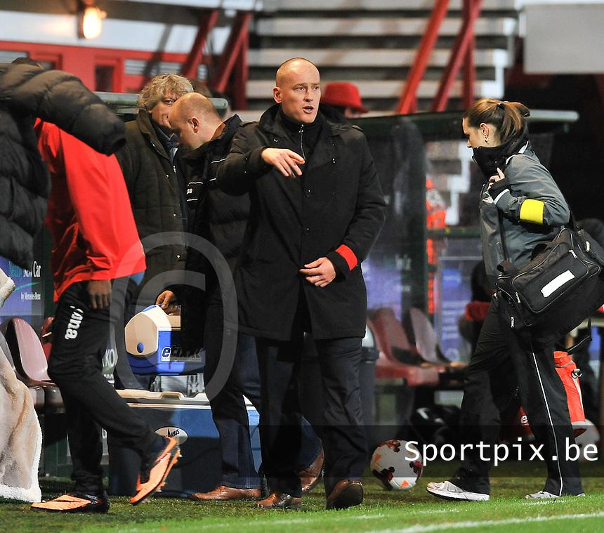 KV Kortrijk - KV Oostende : Oostendse coach Fred Vanderbiest <br /> foto VDB / Bart Vandenbroucke