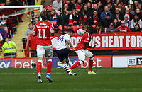 Seán Maguire of Preston North End shot goes wide during Charlton Athletic vs Preston North End, Sky Bet EFL Championship Football at The Valley on 3rd November 2019