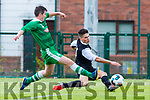 Wayne Sparling Killarney Celtic takes on the gets in a dangerous cross against Boyle Celtic  during their FAI cup clash in Killarney on Saturday