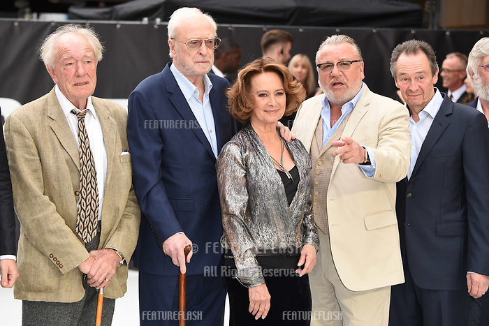 LONDON, UK. September 12, 2018: Sir Michael Gambon, Sir Michael Caine, Francesca Annis &amp; Ray Winstone at the World Premiere of &quot;King of Thieves&quot; at the Vue Cinema, Leicester Square, London.<br /> Picture: Steve Vas/Featureflash