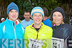 Annette O'Brien Firies, Liz McGillicuddy Ballyhar and Marguerite O'Donoghue Glenflesk at the Farranfore/Maine Valley AC road race in Farranfore on St Stephen's day.