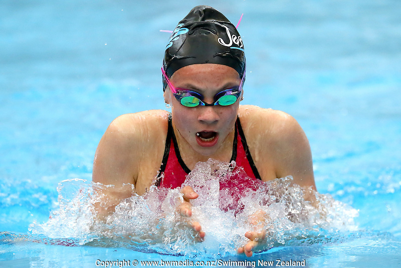 Kaylee Jackson during Session Six of the 2015 New Zealand Short Course Championships, Sir Owen G. Glenn National Aquatic Centre, Auckland, New Zealand, 13 August 2015. Photo: Simon Watts/www.bwmedia.co.nz