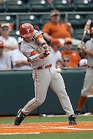 Texas Longhorns designated hitter Madison Carter (35) swings the bat during the NCAA baseball game against the Houston Cougars on June 6, 2014 at UFCU Disch–Falk Field in Austin, Texas. The Longhorns defeated the Cougars 4-2 in Game 1 of the NCAA Super Regional. (Andrew Woolley/Four Seam Images)